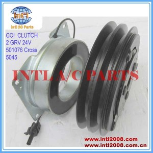 China supplier 501076 Cross CCI CLUTCH 2 GRV 24V York 210 Series Compressor clutch Key Hub Bore K332-41 E-802592 RD-5-9659-0