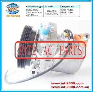 SEIKO SEIKI SS10 SS07LK10 air conditioning auto car ac compressor Suzuki Jimny 4pk 95200-77GB2 95201-77GB2 9520077GB2 9520177GB2