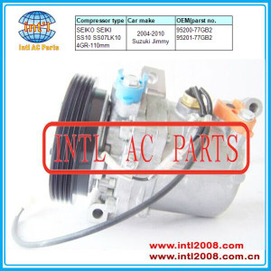 SEIKO SEIKI SS10 SS07LK10 air conditioning auto car ac compressor Suzuki Jimny 4pk 95200-77GB2 95201-77GB2 9520077GB2 9520177GB2