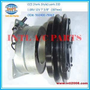 CCI (York Style) york 210 compressor magnetic clutch pulley set 1 GRV 12V 502400 ABP N83 303021 5063 A22-10761-000 1676659-C91