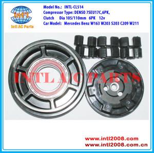 DENSO 7SEU17C Auto AC Compressor clutch 6pk pulley FOR MB Mercedes Benz W163 W203 S203 C209 W211 0001230011 00012301211 00012305