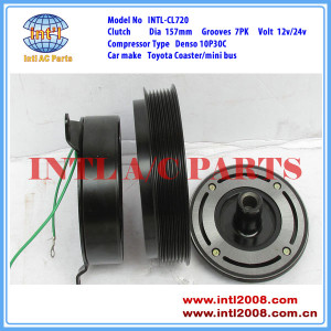DENSO 10P30C/10PA30C ac compressor magnetic clutch assembly 7pk pulley for Toyota Coaster/mini bus 447220-1472 447300-0611