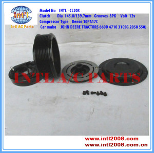 Denso 10PA17C 447100-2380 automobile air con compressor clutch for JOHN DEERE Excavator RE69716