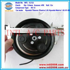 HS-15 4PK A/C Clutch pulley assembly for Hyundai Tiburon /Elantra 2.0L Hyundai Matrix 1.8L 97701-2D100 97701-2C100 97701-2E000