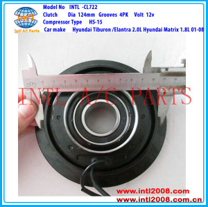 HS-15 4PK A/C Clutch pulley assembly for Hyundai Tiburon /Elantra 2.0L Hyundai Matrix 1.8L 97701-2D100 97701-2C100 97701-2E000