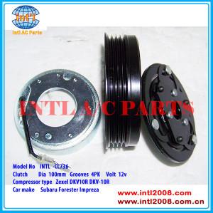 Zexel DKV10R DKV-10R 73111fg001 73111-SA010 73111SA010 506021-7572 ac compressor clutch pulley for Subaru Forester Impreza