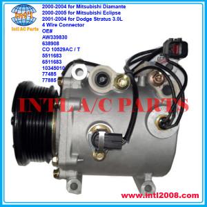 MSC90C ac compressor Mitsubishi Diamante/Eclipse 6pk 4 Wire