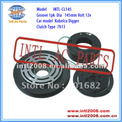 auto air conditioning ac compressor clutch pulley for Kobelco Digger 7H13 1PK 145mm 12V
