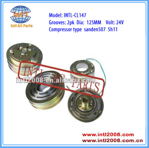auto air conditioning ac compressor clutch pulley for SD507 5h11 2PK 125mm 12V/24V