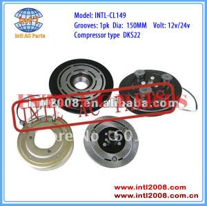 auto a/c compressor clutch for DKS22 1B 150mm 12V/24V