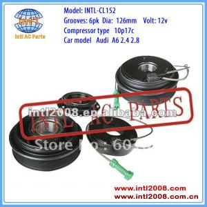 auto a/c compressor clutch for 10P17C AUDI A6 2.4 2.8 6PK 126mm 12V