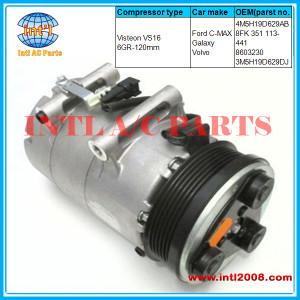 Ford C-MAX Galaxy Volvo AC compressor Visteon VS16-6GR-120mm  8FK 351 113-441 /8603230 / 3M5H19D629DJ 4M5H19D629AB