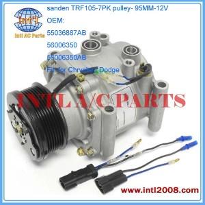 ac compressor Sanden 2214 3201 TRF105 for Chrysler Town & Country 5.2L/ Dodge B Series Van 3.9 1992 - 1997 55036887AB 56006350