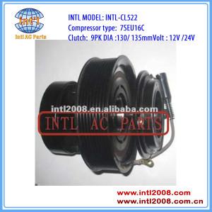 auto a/c compressor clutch 9PK 130/135MM for 7SEU16C Mercedes Benz Trucks Actros 12V/24V 0002342311 0002343111
