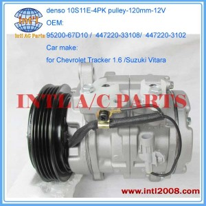 denso 10S11E 99-02 Chevrolet Tracker 1.6L AC Compressor Assembly 30022534 447220-33108 447220-3102 15-2036095200-67D10 CO 29010C China Guangzhou factory / manufacturer