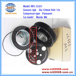 Panasonic MAZDA M6 air conditioning auto ac compressor magnetic clutch assembly 6pk pulley H12A1AF4A0 H12A1AF4DW GJ6A-61-K00C