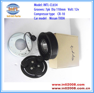 CR10 CR-10 Nissan Tiida air conditioner ac a/c compressor magnetic clutch assembly 7PK replace 6pk pulley 92600CJ60C W08A301627