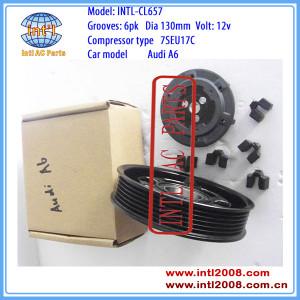 ac compressor clutch denso 7SEU17C PV6 PULLEY 12V AUDI A6 2.4L aircon car ac compressor magnetic clutch assembly