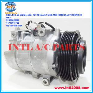 Denso 6SBL14C ac compressor RENAULT MEGANE III/RENAULT SCENIC III