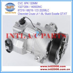 China factory manufacturer CVC Buick Excelle GT/XT / Chevrolet Cruze L4 1.8L 2011 Auto AC Compressor CO 22208LC 67219 13271264 1522208
