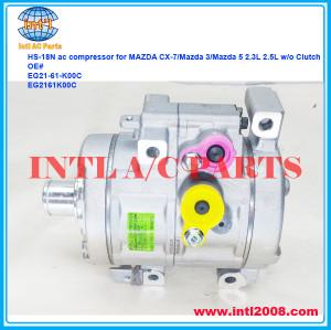 EG21-61-K00C EG2161K00C HS-18N a/c compressor for MAZDA CX-7/Mazda 3/Mazda 5 2.3L 2.5L w/o clutch