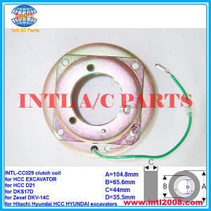 AUTO A/C compressor clutch coil for Zexel DKV-14C/DKS17D/HCC D21/Hitachi Hyundai HCC HYUNDAI excavators