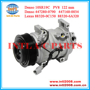 China supply auto ac compressor Denso 10SR19C for Toyota Land Cruiser Sequoia Lexus LX570 5.7L 447280-0790 88320-0C150 447280-0053
