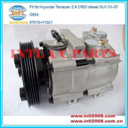 hcc hs18 ac air con compressor for hyundai terracan 2 9. Black Bedroom Furniture Sets. Home Design Ideas