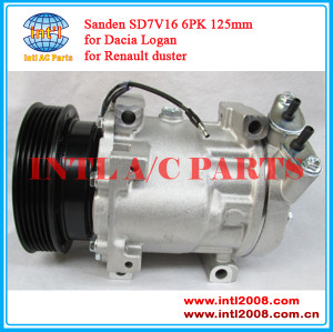 China supplier Auto ac (a/c) compressor Sanden SD7V16 for Renault Clio/Megane/Scenic/Kangoo/Logan Nissan