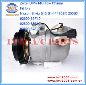 aftermarket China compressor Zexel DKV-14C fit Nissan Silvia S13 S14 / 180SX 200SX SR20DET 92600-65F10 92600 65F10 92600-80F00 9260065F10 9260080F00