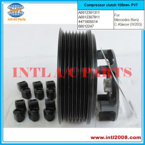 auto a/c compressor clutch 7SEU17C/6SEU16C Mercedes Benz MB PV7 pulley 0022301011 0022303211 0022305811 A0012301311 A0012303211  China manufacturer