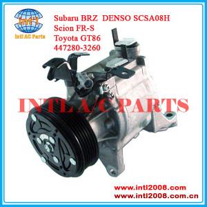 Denso SCSA08H auto ac compressor for Subaru Impreza BRZ Scion FR-S Toyota GT86 447280-3260 4472803260 447280 3260 China factory
