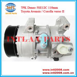 88310-02400 8831002400 447260-1256 447260-1258 5235393 for TOYOTA RAV 4 COROLLA VERSO 2.0 D-4D /AURIS 5D 2.0/ a/c compressor China factory