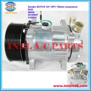 Sanden SD7H15 709 sd709 7H15 12V 10PV 125mm a/c compressor 8035 S8035 03129547 3129547