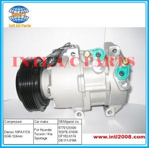 Hyundai Tucson/ Kia Sportage Compressor Denso 10PA17C6 6GR-124mm OEM# 97701-2S500/977012S500 1D27E-01600 OF182-0174 OE1