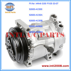 CWV618-4pk AC Compressor Assembly for 2003-07 Infiniti G35/ FX35 2DR 3.5L/ NISSAN V35 COUPE 3.5 V6 ENGINE 92600-AM80A 4S#67642