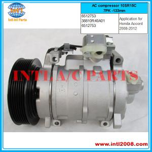 Honda Accord 2.4 3.5L AC compressor 10SR15C(replace one 10S17C ) 7PK -133mm  38810R40A01   6512753