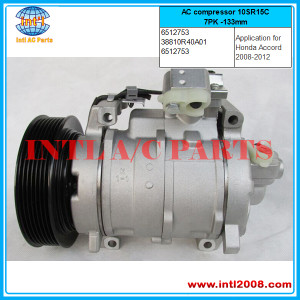 Honda Accord 2.4 3.5L AC compressor 10SR15C(replace one 10S17C ) 7PK -133mm  38810R40A01   6512753