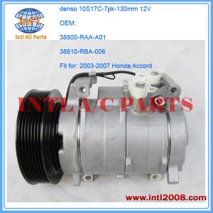 Kompressor for Honda Accord 2.4 2.0 2003-07 denso 10s17c compressor 38800-RAA-A01 38810-RBA-006 38810RAAA01 471-1538 4S#78389