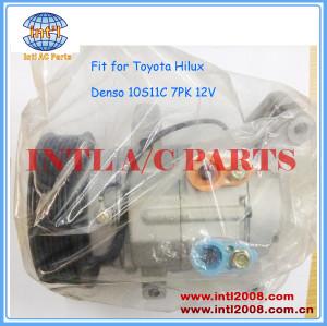 Compressor Toyota Hilux Vigo Petrol 4.0 2.0/ 2.7VVT / INNOVA denso 10S11C-7pk 447160-1990 447180-8301 447260-8040 88320-71110