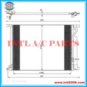 AC condenser Core size : 495x432x18 fits for Chevrolet/Daewoo 94838817 94838818 95227757 95227758 96802950 96878657 Klimakonden