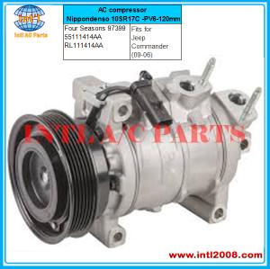 Four Seasons 97399 AC compressor Nippondenso 10SR17C -PV6-120mm fits for Jeep Commander (09-06) 55111414AA RL111414AA