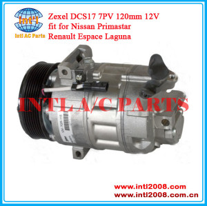 Zexel DCS17 China supply auto ac compressor for Renault Espace Laguna  Nissan Primastar  8200454172 4434678 5060410300 93161916 8200577732