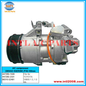 447260-2333 DENSO 5SER09C A/C compressor used for TOYOTA YARIS /URBAN CRUISER/AURIS /COROLLA 88310-1A820 / 8831002720