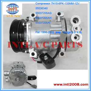 Compressor SD7H15 Sanden 4691 U4824 4650 for Jeep Cherokee 2.5 4.0 /Dodge Dakota 2.5 55036340 55037205AG 55037205AH 55037205AI