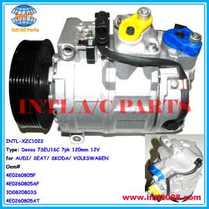 4E0260805F 4E0260805AF 3D0820803S 4E0260805AT compressor for Denso 7SEU16C/Auto compressor Denso 7SEU16C 7pk manufacturer