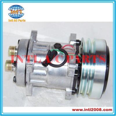 Compressor ac SANDEN 7h15 SD7H15 para Case / New Holland / McCormick / Steyr 4609 L 4609 4478 1999755C3 47050714