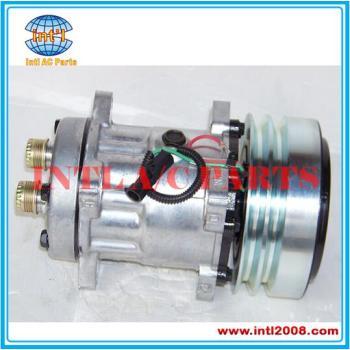 Compresor de aire acondicionado SANDEN 7h15 SD7H15 párrafo Case / New Holland / McCormick / Steyr 4609 L 4609 4478 1999755C3 47050714