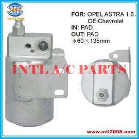 receptor filtro secador Opel Astra 1618150 9117400 60X135MM