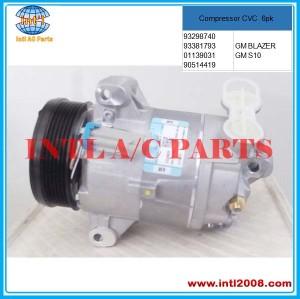 Compressor CVC 6PK fit for GM S10 / BLAZER 2.4 / 2.8 - 2000>2012 Chevrolet 93298740